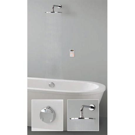 Crosswater Digital Carrera Elite Bath with Bath Filler Waste & Fixed Showerhead - 2 x Colour Options