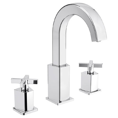 Bristan Cascade 3 Hole Basin Mixer with Clicker Waste