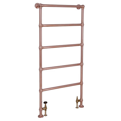 Castleford Traditional 1550 x 626mm Steel Towel Rail - Copper