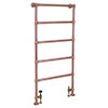 Castleford Traditional 1550 x 626mm Steel Towel Rail - Copper profile small image view 1