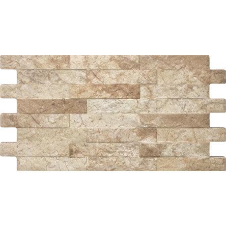 Cascade Cream Split Face Stone Wall Tiles - 250 x 445mm