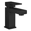 Arezzo Square Matt Black Basin Mono Mixer Tap profile small image view 1