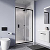 Crosswater Clear 6 Matt Black Single Sliding Shower Door profile small image view 1