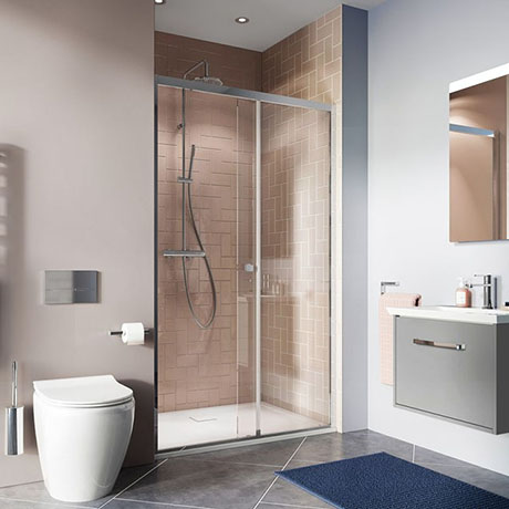 Crosswater Clear 6 Single Sliding Shower Door