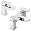 Cast Modern Bathroom Tap Package (Bath + Basin Tap) profile small image view 1