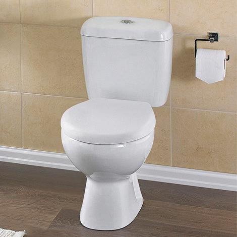 Casca Modern Close Coupled Toilet + Soft Close Seat