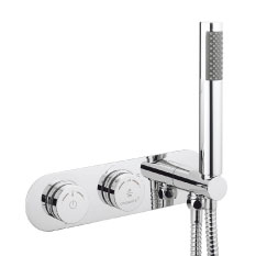 Crosswater Digital Cayman Duo Bath with Bath Filler Waste and Shower Handset profile large image view 6