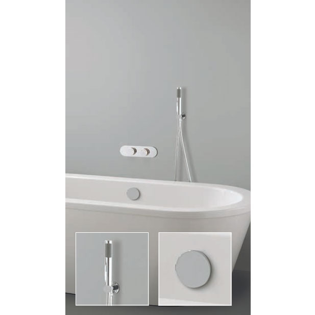 Crosswater Digital Veyron Duo Bath with Bath Filler Waste and Shower Handset profile large image view 1
