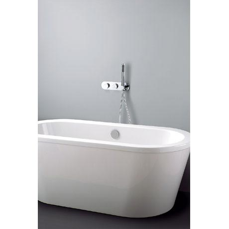 Crosswater Digital Cayman Duo Bath with Bath Filler Waste and Shower Handset