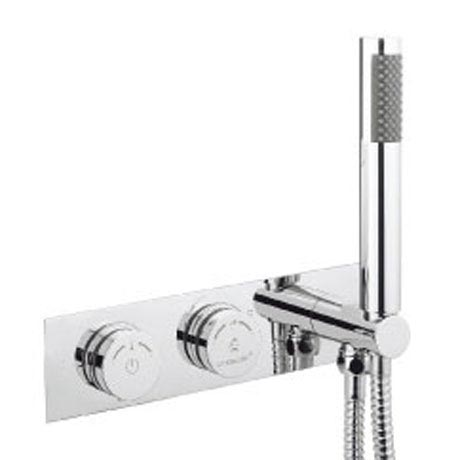 Crosswater Digital Cayman Slim Duo Bath with Bath Filler Waste and Shower Handset profile large image view 5