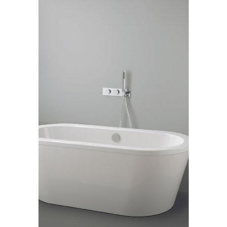 Crosswater Digital Cayman Slim Duo Bath with Bath Filler Waste and Shower Handset