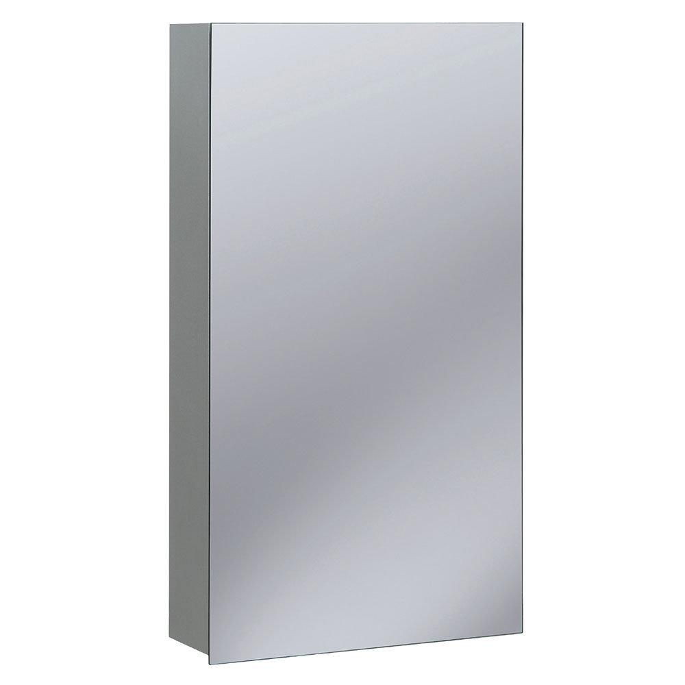Bauhaus - 400mm Aluminium Mirrored Cabinet - CB4070AL Large Image