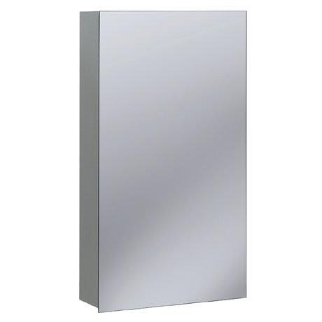 Bauhaus - 400mm Aluminium Mirrored Cabinet - CB4070AL