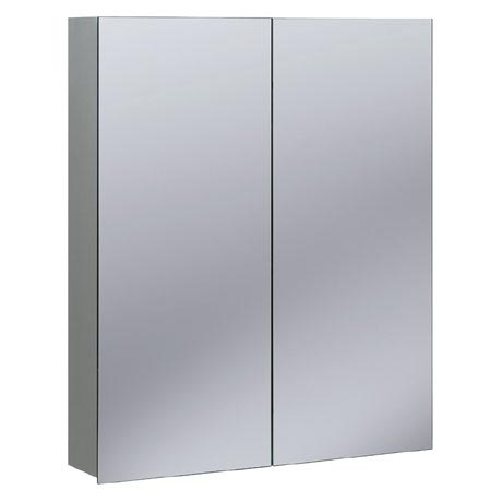 Bauhaus - 600mm Aluminium Mirrored Cabinet - CB6070AL