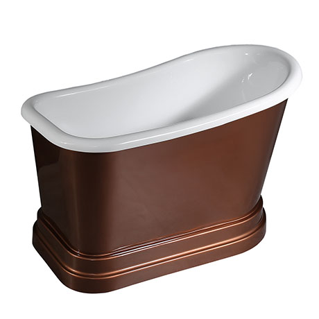 Chatsworth Copper Effect 1300 Short Roll Top Bath
