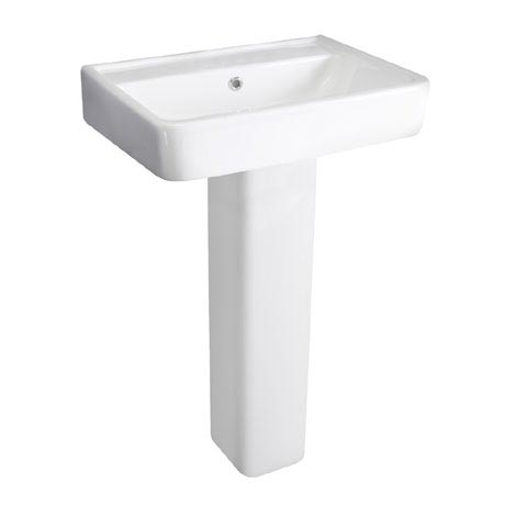 Hudson Reed - Granger 520mm Basin 1TH & Full Pedestal - CBA003