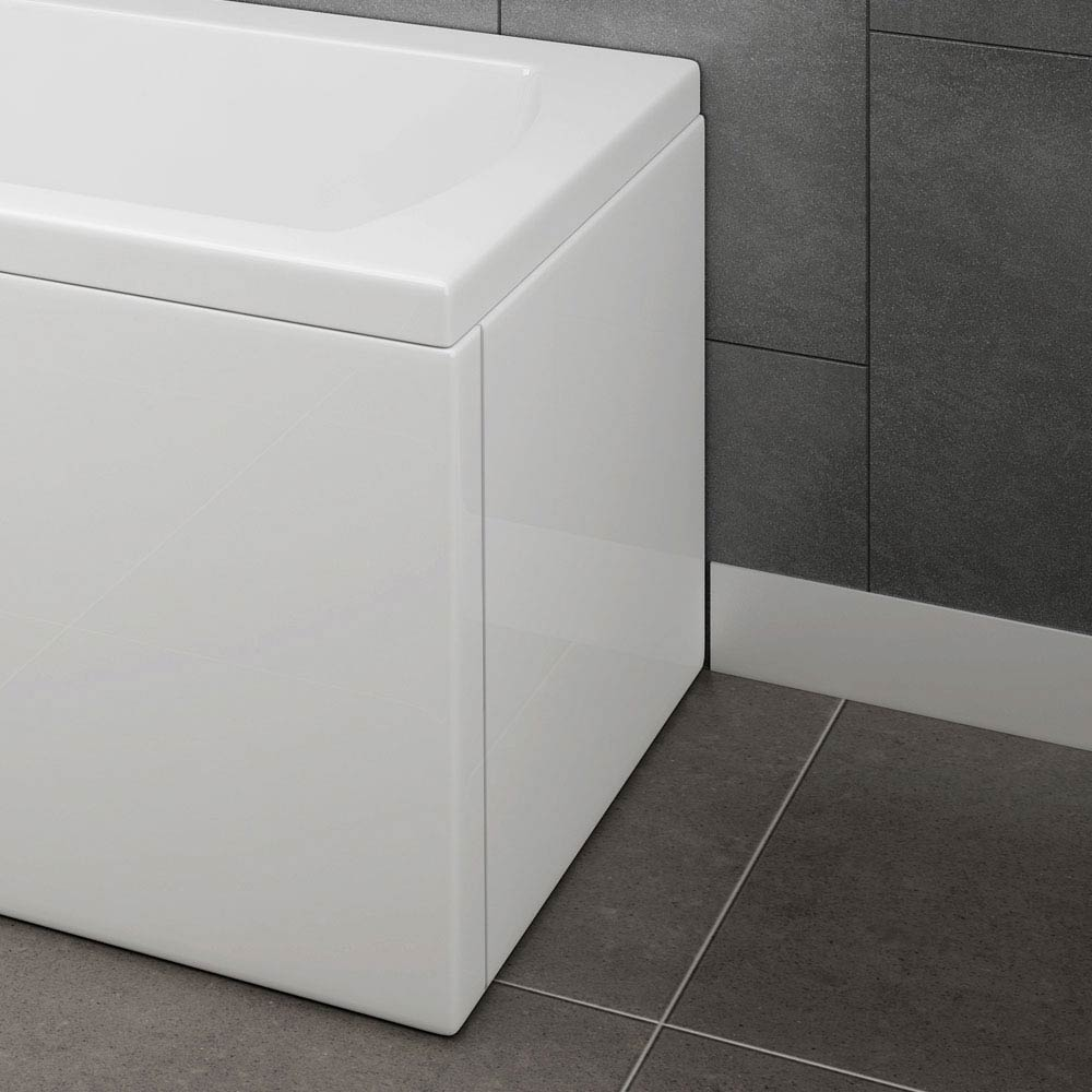 CBEP1 Acrylic End Panel for 1700mm L-Shaped Baths profile large image view 1