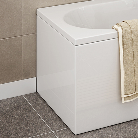 CBEP1 700mm Acrylic End Panel for Shower Baths
