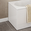 CBEP1 700mm Acrylic End Panel for Shower Baths profile small image view 1