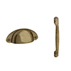 Chatsworth Brass Handle Pack for 300mm Cupboard Unit profile small image view 1