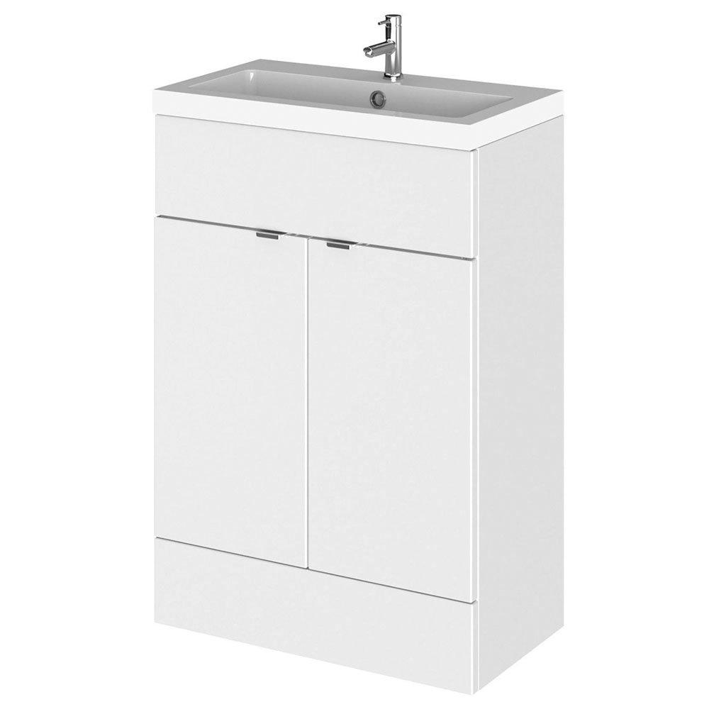 Hudson Reed Fusion Gloss White 605x360mm Vanity Unit & Basin