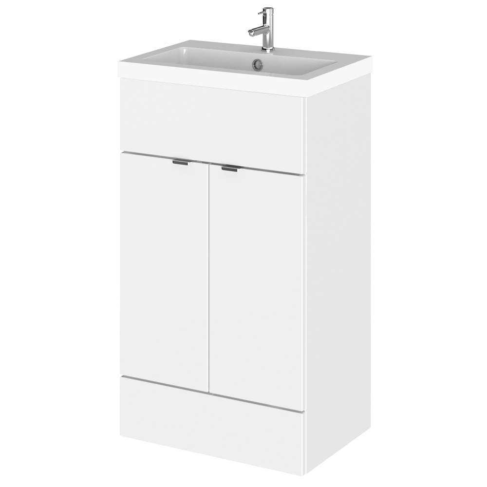 Hudson Reed Fusion Gloss White 505x360mm Vanity Unit & Basin