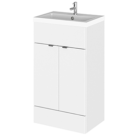 Hudson Reed Fusion Gloss White 505x360mm Vanity Unit & Basin
