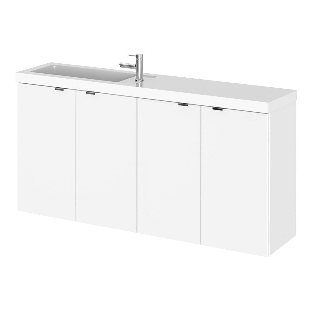 Hudson Reed Fusion 1000mm Gloss White Compact Wall Hung Unit & Basin