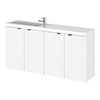 Hudson Reed Fusion 1000mm Gloss White Compact Wall Hung Unit & Basin profile small image view 1