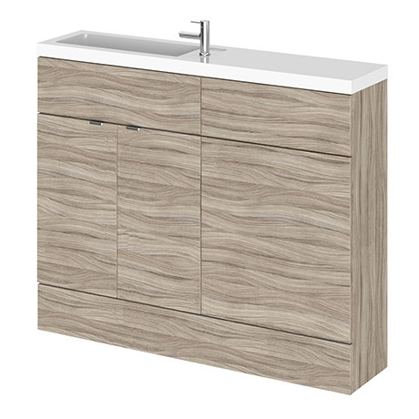 Hudson Reed 1100mm Driftwood Compact Combination Unit (600 Vanity + 500 WC unit)