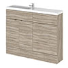 Hudson Reed 1100mm Driftwood Compact Combination Unit (600 Vanity + 500 WC unit) profile small image view 1