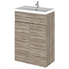 Hudson Reed Fusion Driftwood 605x360mm Vanity Unit & Basin profile small image view 1