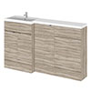 Hudson Reed 1500mm Driftwood Combination Unit (600 Vanity, 400 Base Unit + 500 WC Unit) profile small image view 1
