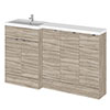 Hudson Reed Fusion 1500mm Driftwood Combination Unit (600 Vanity + 300 Base Unit x 3) profile small image view 1