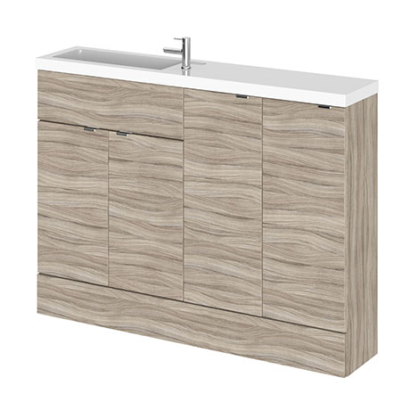 Hudson Reed 1200mm Driftwood Compact Combination Unit (600 Vanity, 300 Base Unit x 2)