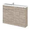 Hudson Reed 1200mm Driftwood Compact Combination Unit (600 Vanity, 300 Base Unit x 2) profile small image view 1
