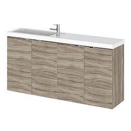 Hudson Reed Fusion 1000mm Driftwood Compact Wall Hung Unit & Basin