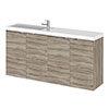 Hudson Reed Fusion 1000mm Driftwood Compact Wall Hung Unit & Basin profile small image view 1