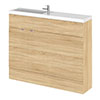 Hudson Reed 1100mm Natural Oak Compact Combination Unit (600 Vanity + 500 WC unit) profile small image view 1