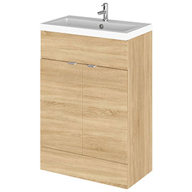 Hudson Reed Fusion Natural Oak 605x360mm Vanity Unit & Basin