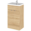 Hudson Reed Fusion Natural Oak 505x360mm Vanity Unit & Basin profile small image view 1