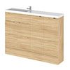 Hudson Reed 1200mm Natural Oak Compact Combination Unit (600 Vanity, 300 Base Unit x 2) profile small image view 1