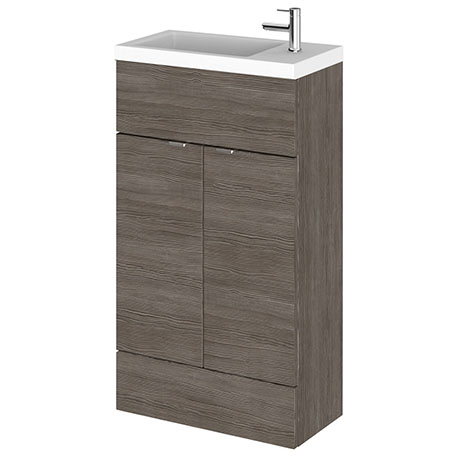 Hudson Reed Fusion Grey Avola 505x260mm Compact Vanity Unit & Basin
