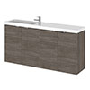 Hudson Reed Fusion 1000mm Grey Avola Compact Wall Hung Unit & Basin profile small image view 1