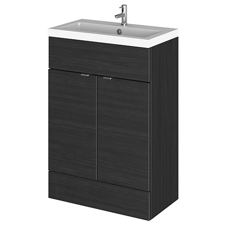 Hudson Reed Fusion Hacienda Black 605x360mm Vanity Unit & Basin
