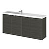 Hudson Reed 1200mm Hacienda Black Wall Hung Compact Combination Unit (600 Vanity x 2) profile small image view 1