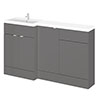 Hudson Reed 1500mm Gloss Grey Combination Unit (600 Vanity, 400 Base Unit + 500 WC Unit) profile small image view 1