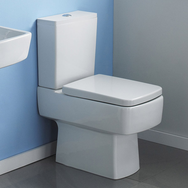 Bliss Close Coupled Square Toilet Inc. Standard or Soft Close Seat Option Profile Large Image