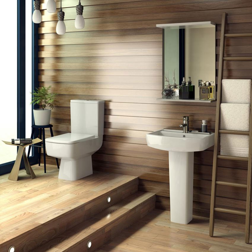 Bliss Close Coupled Square Toilet Inc. Standard or Soft Close Seat Option Feature Large Image