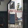 Chatsworth Traditional Blue Cloakroom Suite (Vanity Unit + Close Coupled Toilet) profile small image view 1